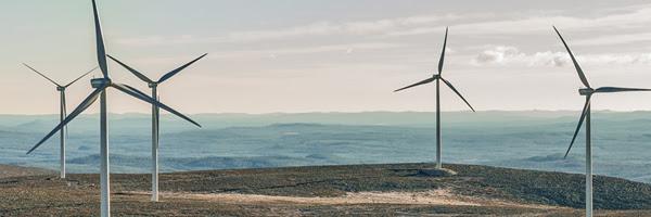Glötesvålens vindpark. Foto: Jann Lipka