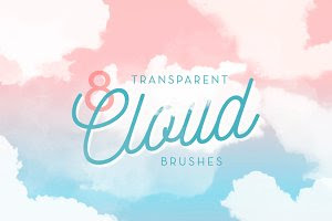 8 Transparent Cloud Brushes