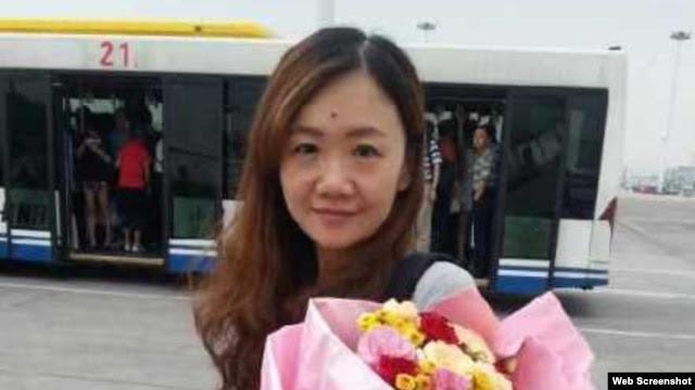 日本经济新闻驻重庆新闻助理辛健(王海春微博图片)