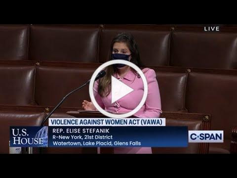 Stefanik Offers Amendment on House Floor to Provide Extension for Violence Against Women Act