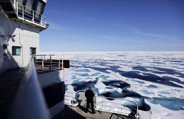 """What starts in the Arctic doesn't stay in the Arctic,"" said Adm. Paul Zukunft, outgoing Coast Guard commandant. ""I have to deal with the consequences."" He said he and other military leaders have a duty to prepare for effects of climate change. (Associated Press/File)"