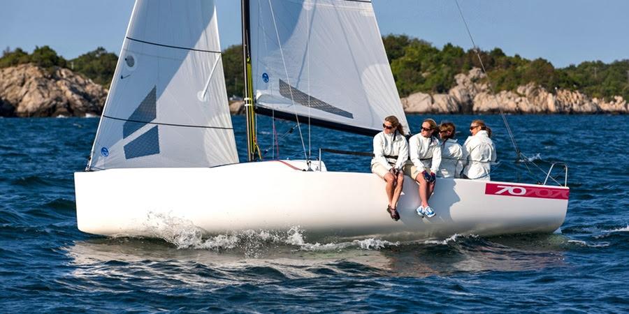 Women's J/70 sailing team