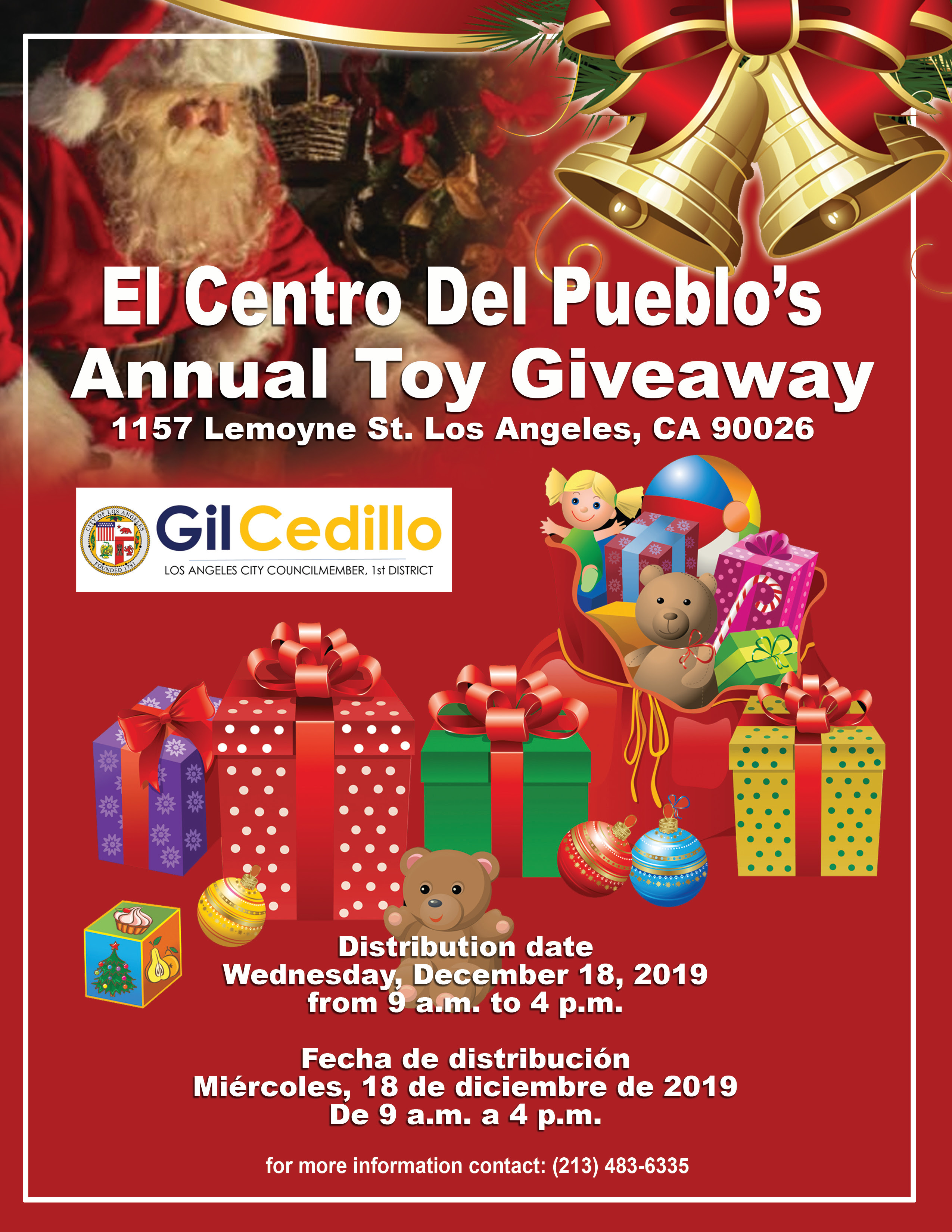 El Centro Toy Drive Kiss FM Event 12-7-19