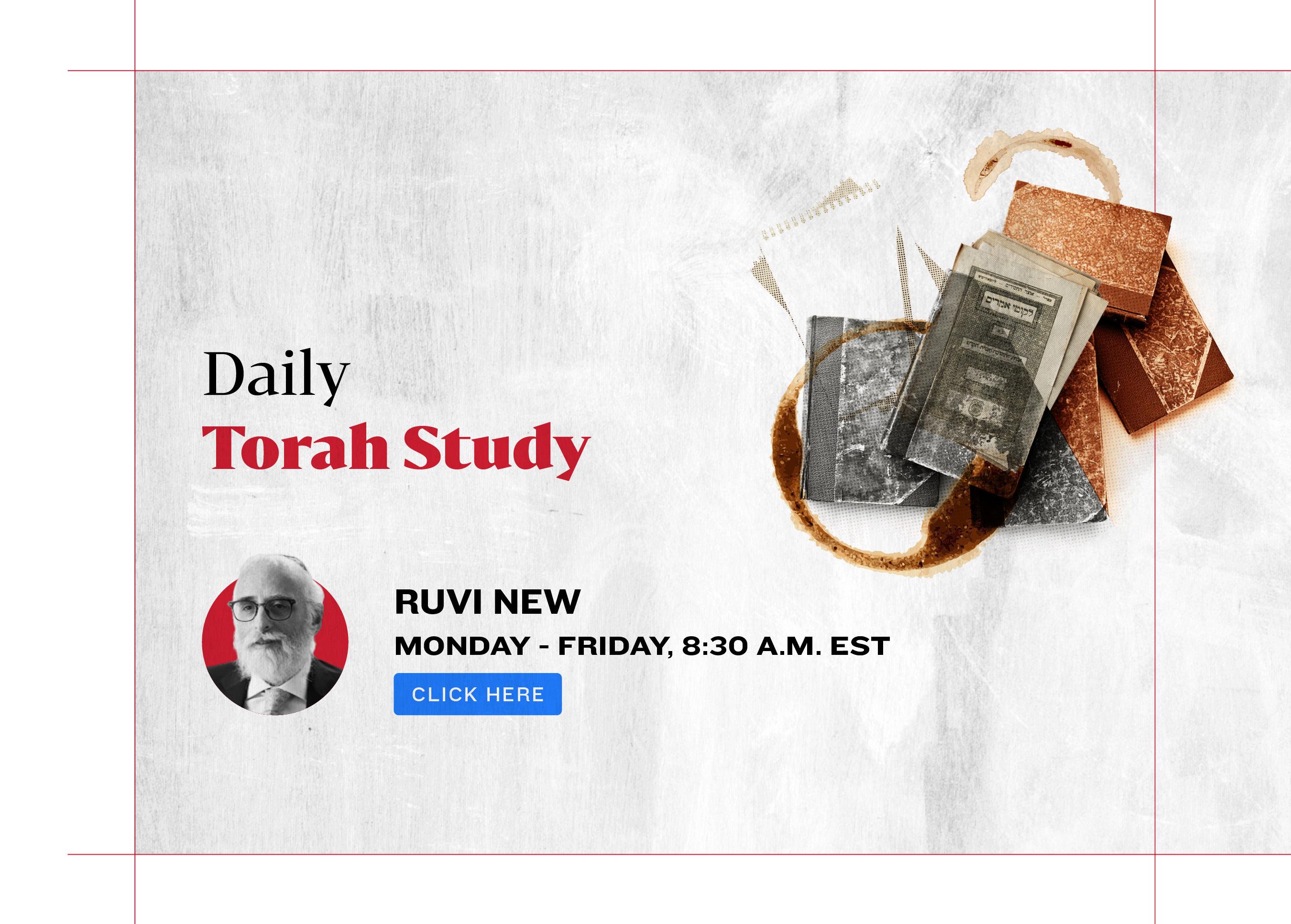 Daily Torah Study. Rabbi Ruvi New