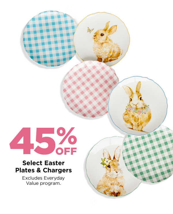 Easter Plates & Chargers