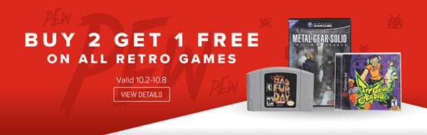Buy 2 Get 1 Free Retro Game Sa...