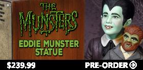 EDDIE MUNSTER & TELEVISION MAQUETTE