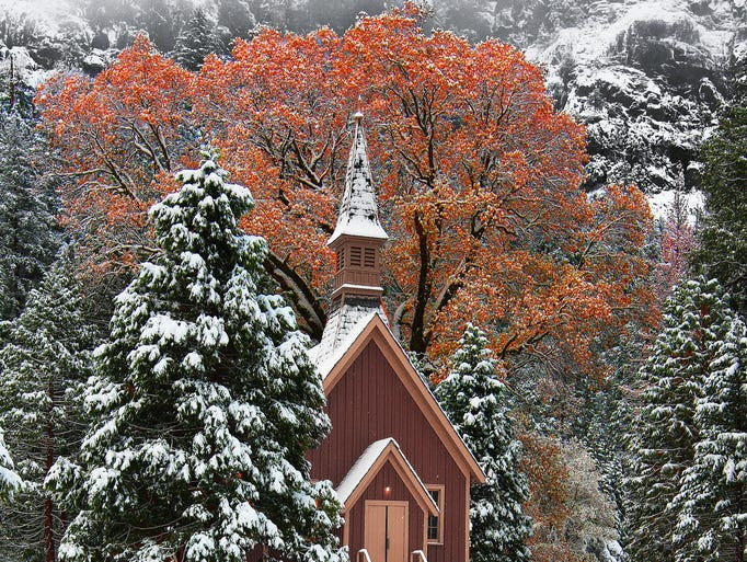 Most                                                           people visit                                                           Yosemite                                                           National Park                                                           for the                                                           majestic                                                           scenery, and                                                           some go to                                                           church while                                                           they're there.                                                             The Yosemite                                                           Valley Chapel                                                           is the oldest                                                           public use                                                           structure in                                                           the park and                                                           has been                                                           holding                                                           services since                                                           1879.