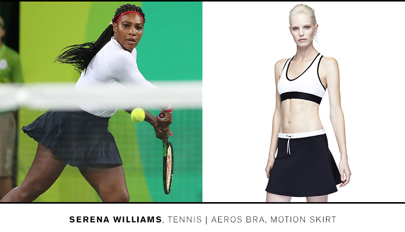 Train like Serena in the Aeros Bra and Motion Skirt >