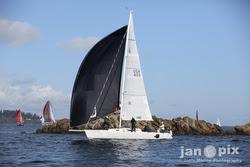 J/105 sailing off Seattle