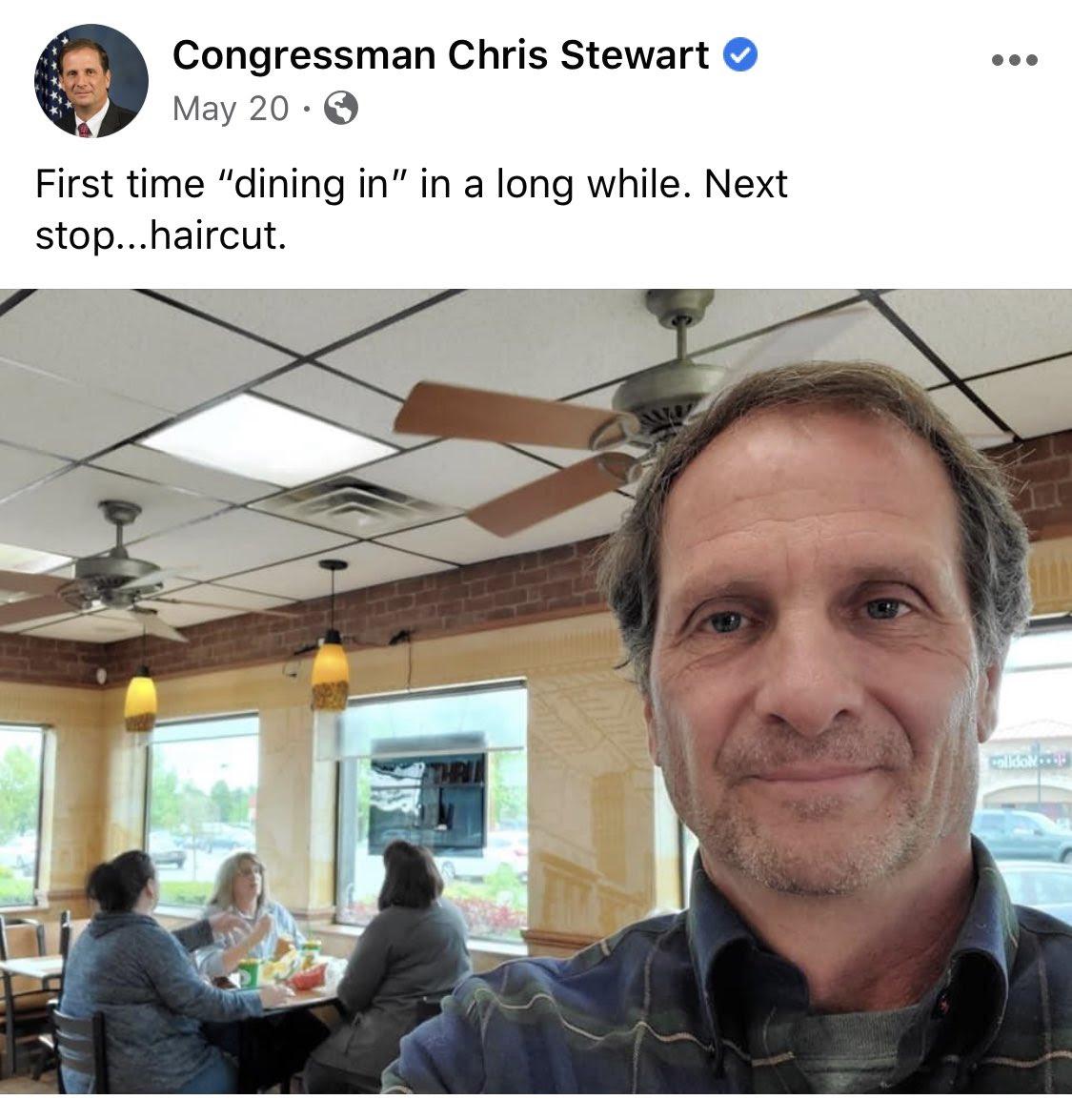 Stewart selfie
