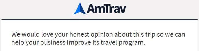 AmTrav's New Post-Trip Surveys