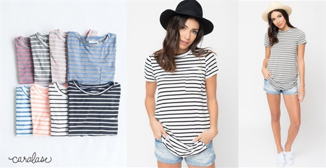 HOT!! Striped Short Sleeve Tee...