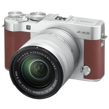 X-A3 Mirrorless Camera with XC 16-50mm f/3.5-5.6 Lens, Brown