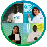 Florence Masnada, Habiba Ghribi, Fodé Ndao, Pascal Gentil Champions for Peace