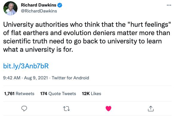 Tweet: Richard Dawkins