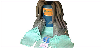 Monarch Green Inc Universal 55 gal spill kit orange label white Products