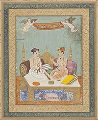 Maharaja Jai Singh of Amber and Maharaja Gaj Singh of Marwar, 1630.jpg