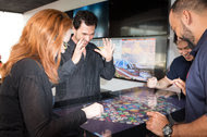 Eric Meyerhofer, center, is the chief executive of Gamblit Gaming, which makes skill-based games for casinos.