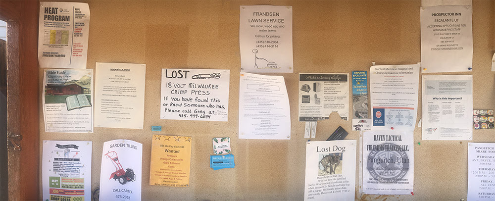 Post Office Bulletin Board