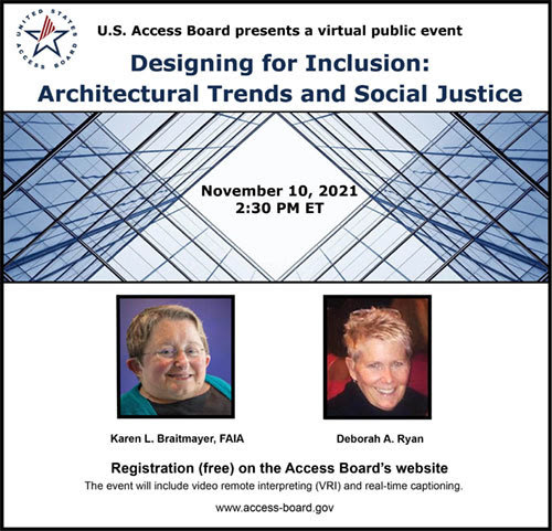 Flyer for Architectural Trends and Social Justice Event