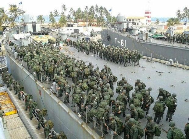 Ejercicio Militar desde la Base Naval CA. Agustín Armario de PuertoCabello.