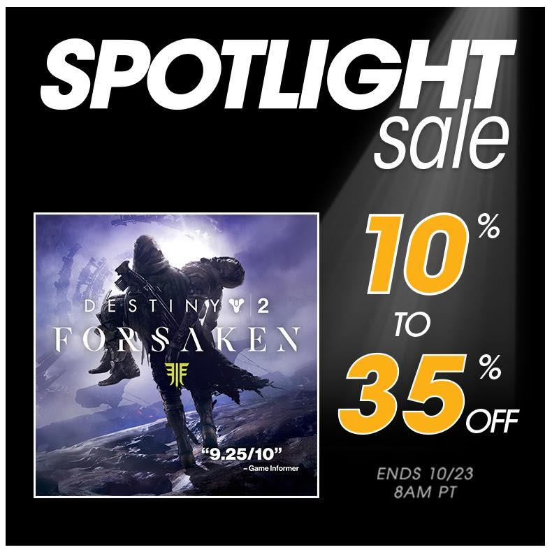 Destiny 2 Spotlight Sale