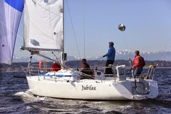 J/105 sailing off Seattle