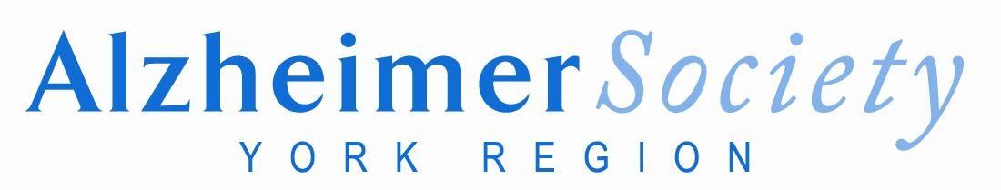Alzheimer Society of York Region logo in blue font