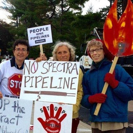 Cambridge (MA) Friends witness to stop the Spectra pipeline in West Roxbury, MA