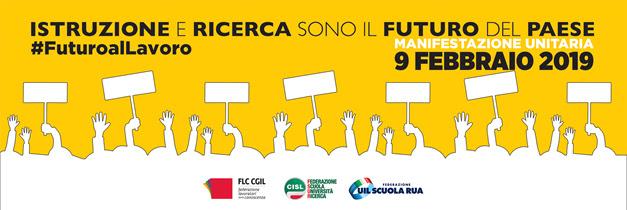 Manifestazione nazionale Cgil, Cisl e Uil a Roma 9 febbraio 2019