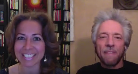 Gregg Braden accompanies Nancy Levin during a poetry reading
