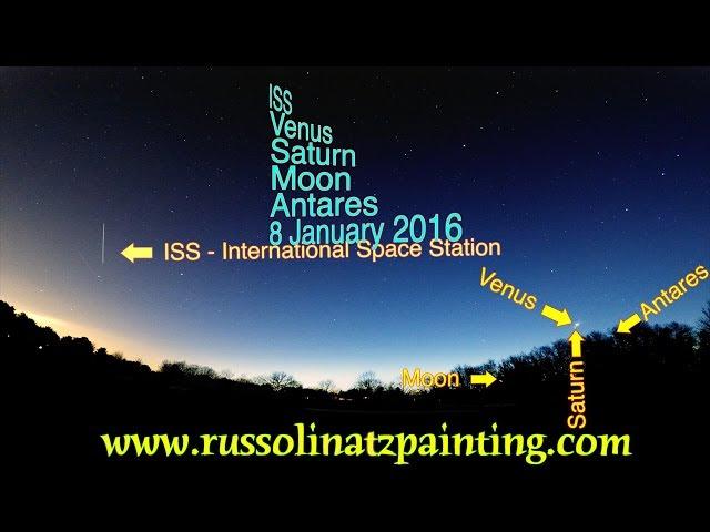 Venus & Saturn conjunction, International Space Station (ISS) - Hartford, Ct 1/8/2016  Sddefault