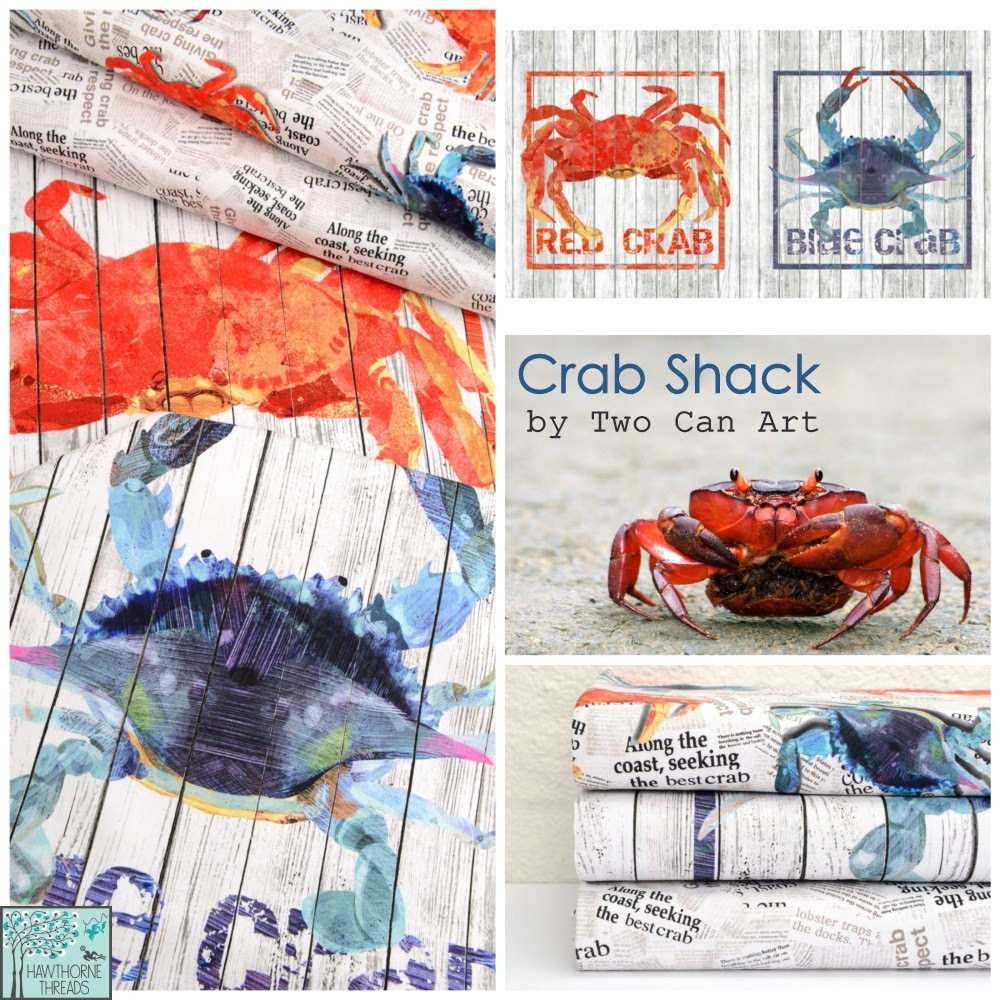 Two Can Art Crab Shack Fabric Poster