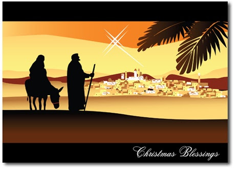 Image result for Christmas card with the Holy Family