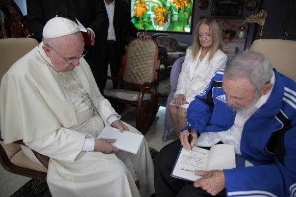 Visita de Cortesía del Papa Francisco al líder de la Revolución cubana Fidel Castro, 20 de septiembre de 2015. Foto: Alex Castro