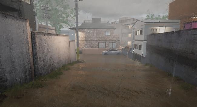 神戸市と株式会社理経で共同開発中の 「土砂災害VR」イメージ(開発中)