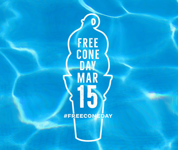#FREECONEDAY: Mar 15
