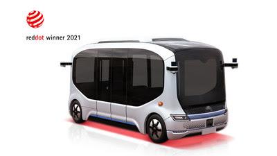 Xiaoyu 2.0 designed by Yutong winning 2021 Red Dot Award