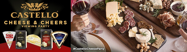 Castello® Cheese and Cheers Viewing Party House Party