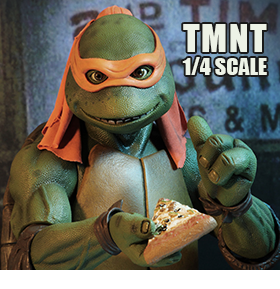 TMNT 1990 MICHAELANGELO 1/4 SCALE FIGURE