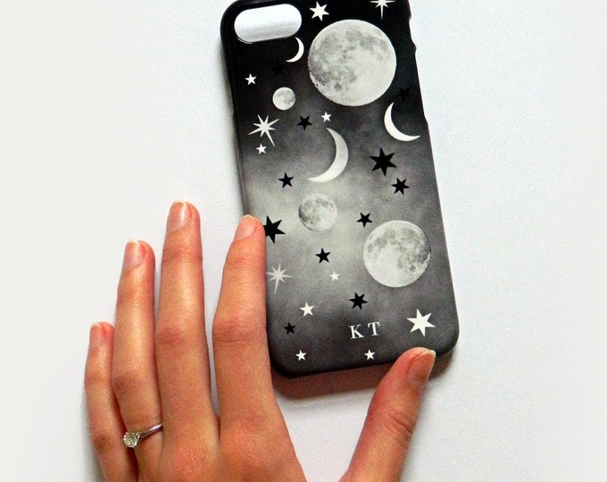 Mystic Mix Up monogram phone case - small white initials - Samsung Galaxy S8 Plus case, iPhone 7/7 Plus, personalised iPhone 8, iPhone SE