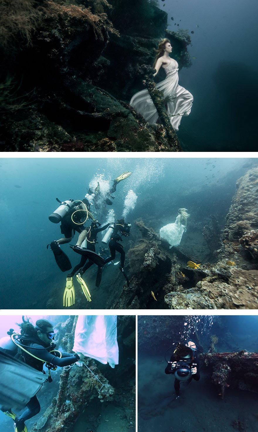 Photoshoot 25m Under The Sea In A Sunken Shipwreck