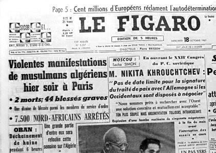 Guerre des chiffres : combien de morts le 17 octobre 1961 ?