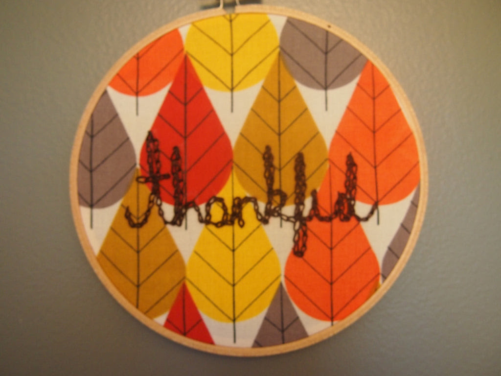 Thankful Embroidery Hoop Art - Adult - Thursday, October 2nd, 7:00 to 9:00 pm