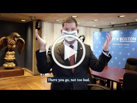 Mayor Walsh shares a tutorial on how to make a face covering