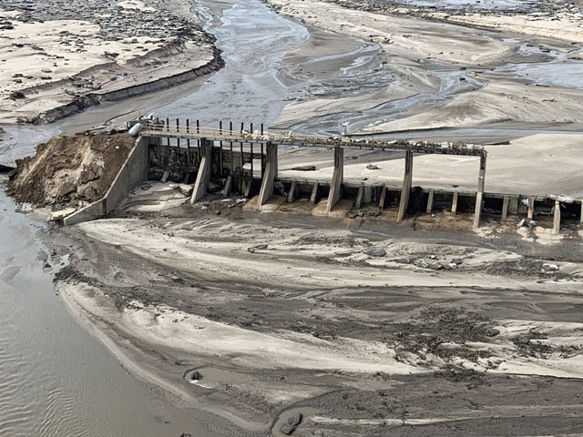 Nebraska officials continue to assess the damage from the flooding that has devastated parts of the state. Spencer dam on the Niobrara River in northern Nebraska washed away. (Photo courtesy of the state of Nebraska)