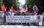 Профсоюзы из разных стран мира требуют справедливого социального контракта