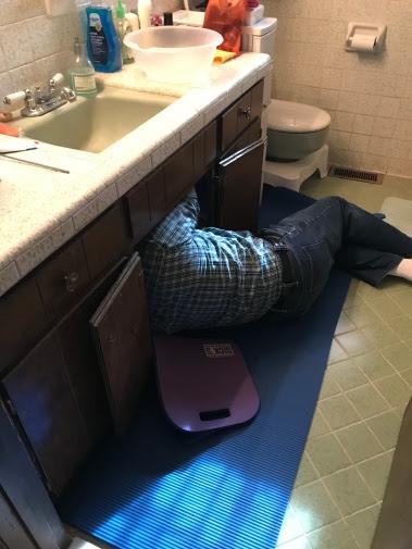 Papaw under the sink