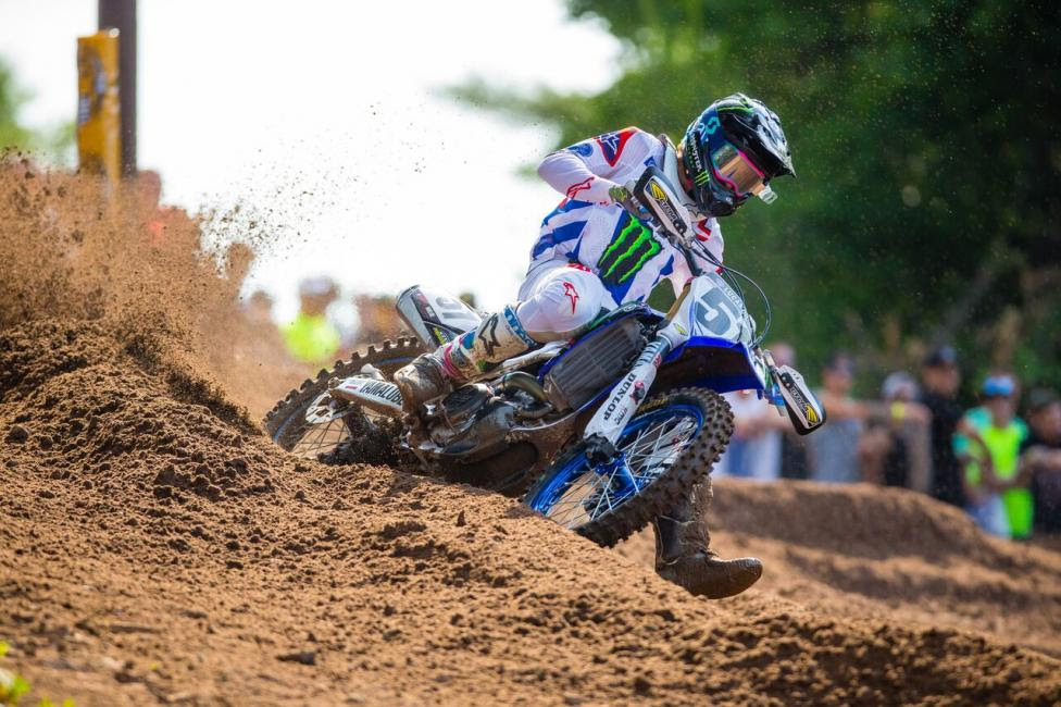 Justin Barcia rode strong throughout the day to round out the 450 Class podium (3-3).